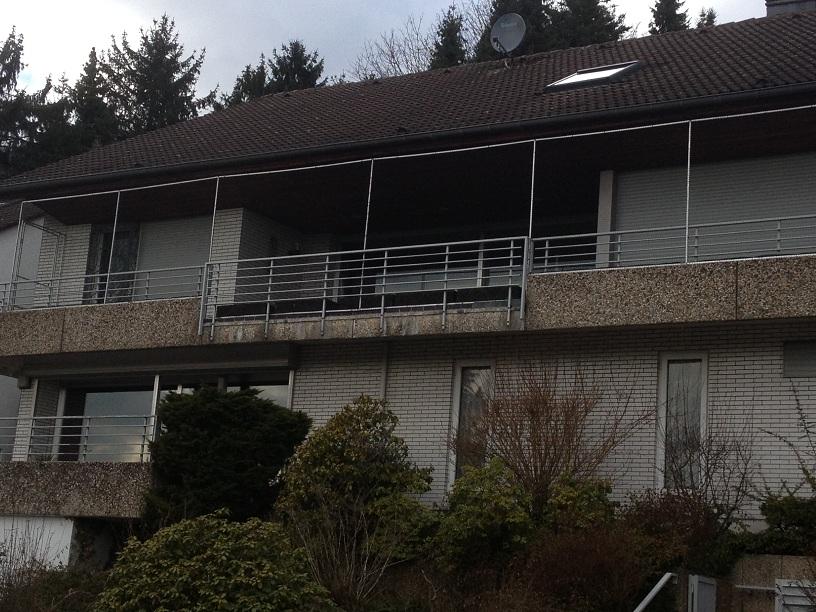 Katzennetz für langen Balkon