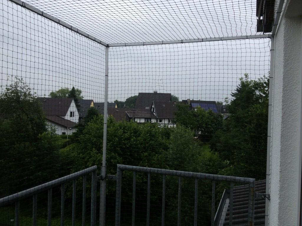Katzenschutznetz oben geschlossen
