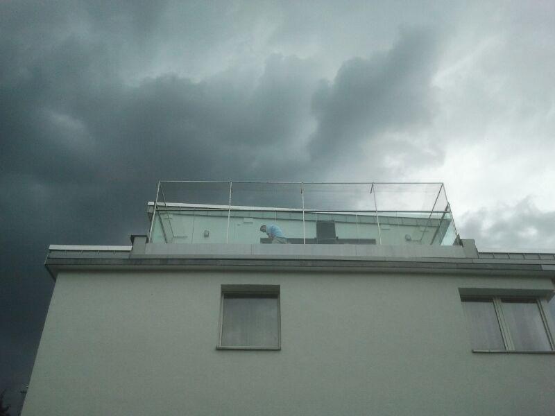 Dachterrasse in Köln vernetzt