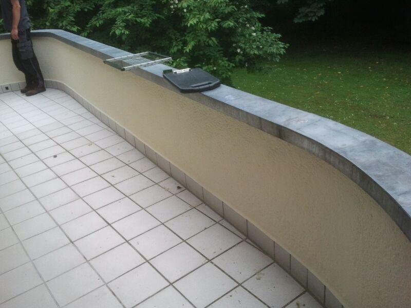 Balkon hat keinen rechten Winkel