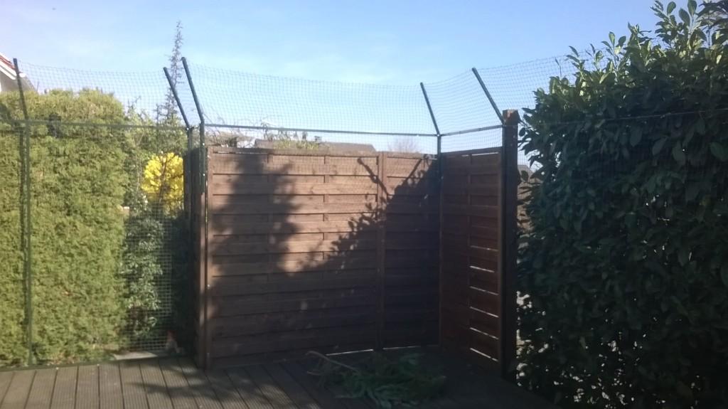 Sichtschutz katzensicher gemacht