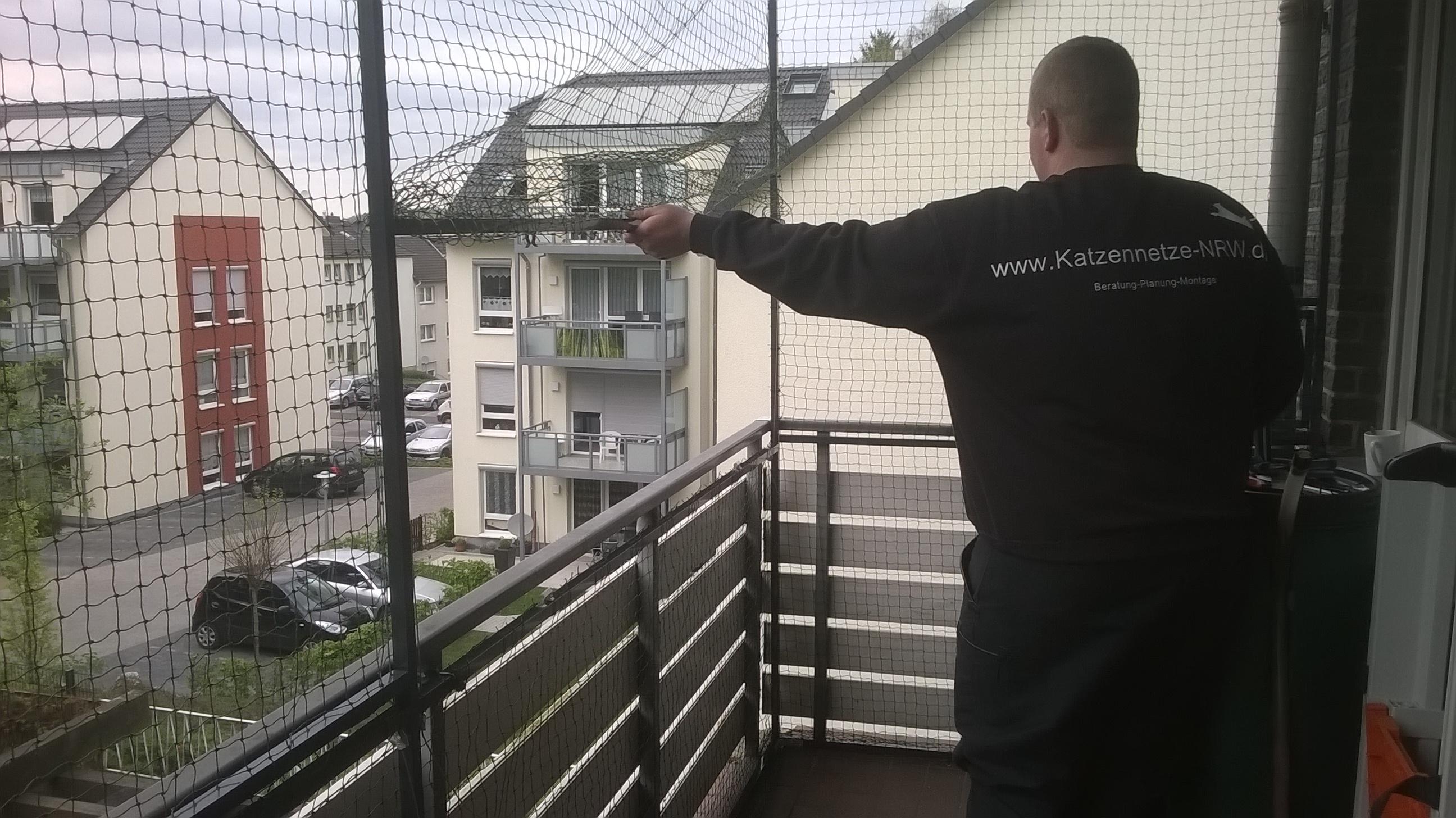 katzennetz zu ffnen fast wie ein rollo die balkonvernetzung ohne bohren katzennetze nrw. Black Bedroom Furniture Sets. Home Design Ideas