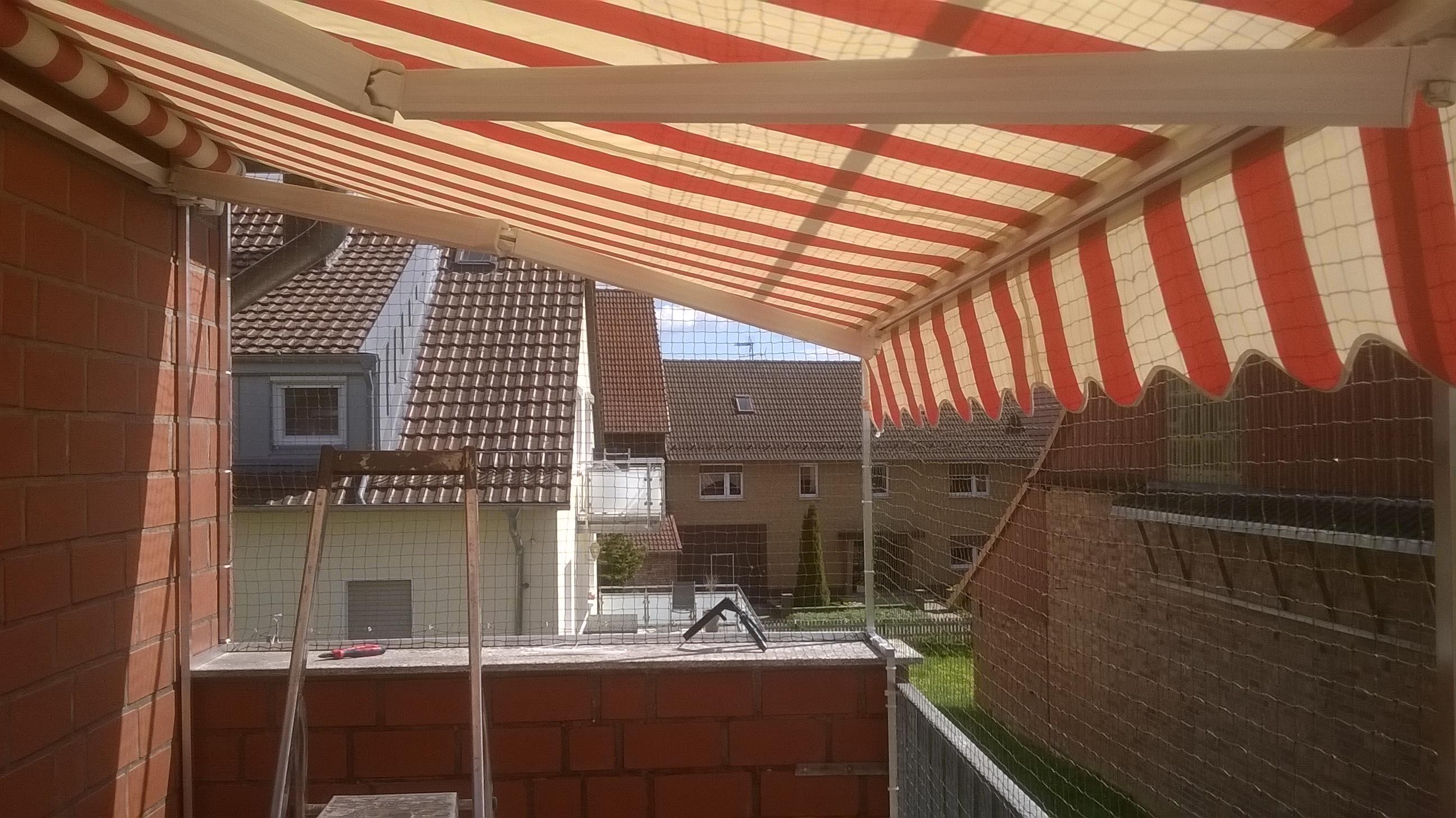 ... Katzennetz_Duderstadt freistehendes Katzennetz für Balkon ohne bohren