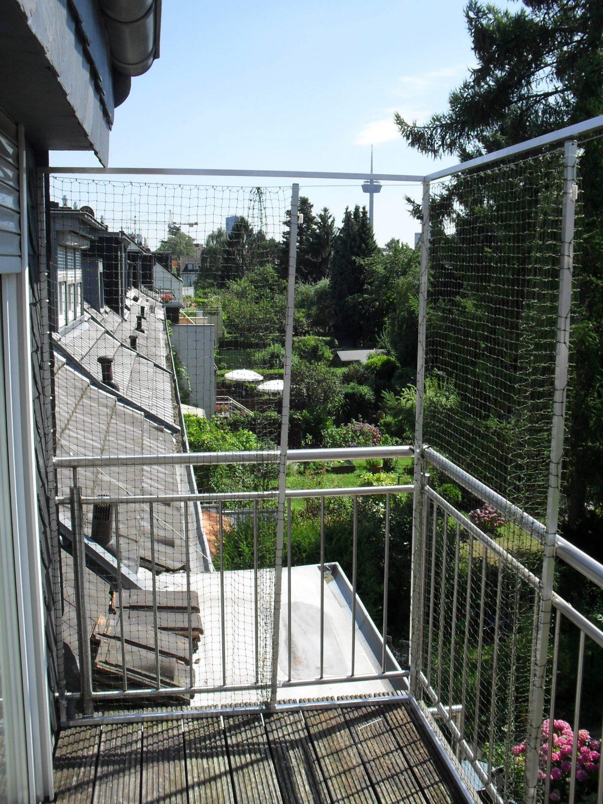 Katzennetz zum aufmachen am Balkon