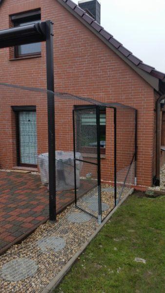 Terrasse Garten Katzennetz mit doppelten Ueberkletterschutz