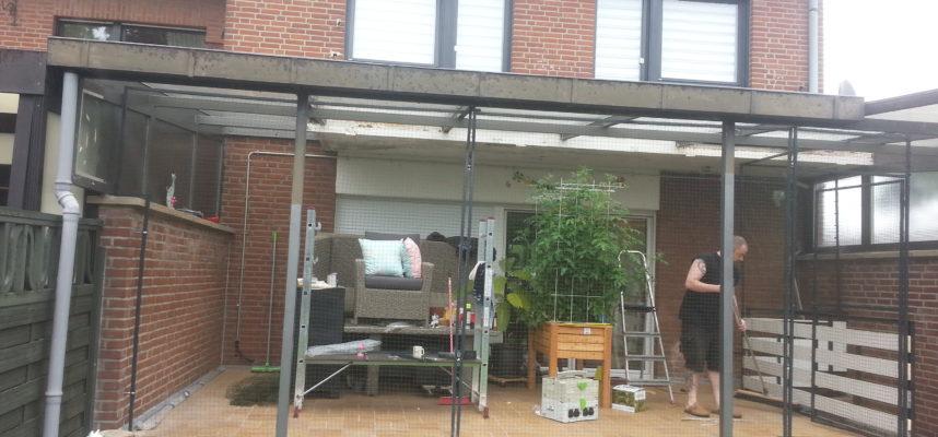 terrassensicherung mit katzennetz wegnehmbare einzelrahmen katzennetze nrw der katzennetz. Black Bedroom Furniture Sets. Home Design Ideas