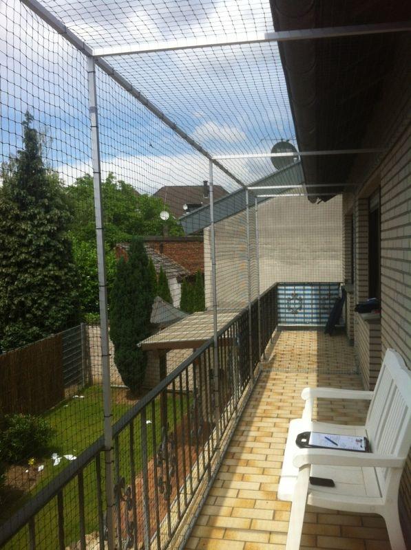 Katzennetz für großen Balkon