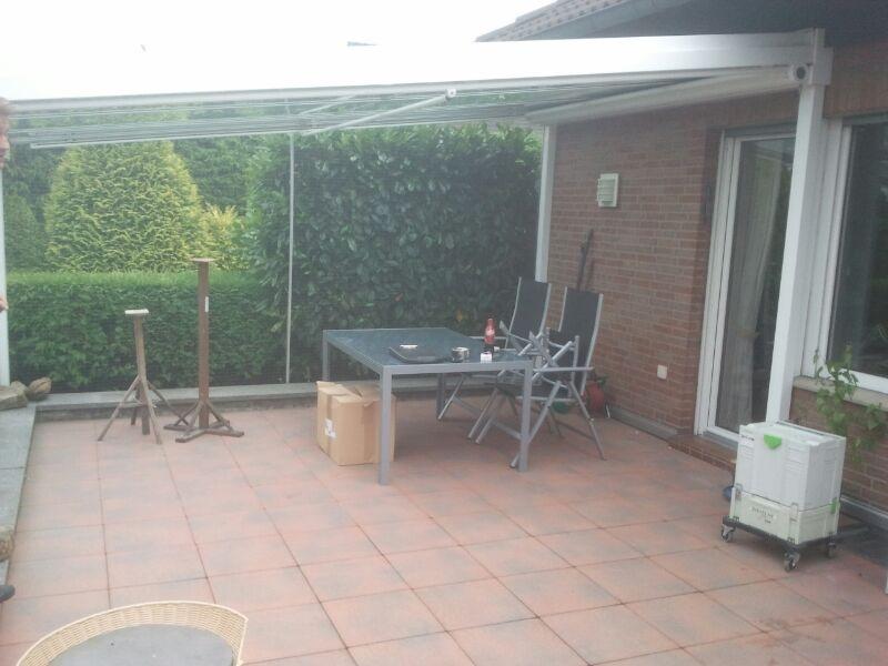 Terrasse mit Katzennetz