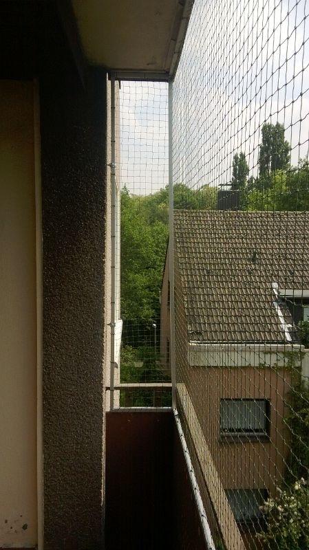 Katzennetz wurde an Balkon in Gelsenkirchen montiert