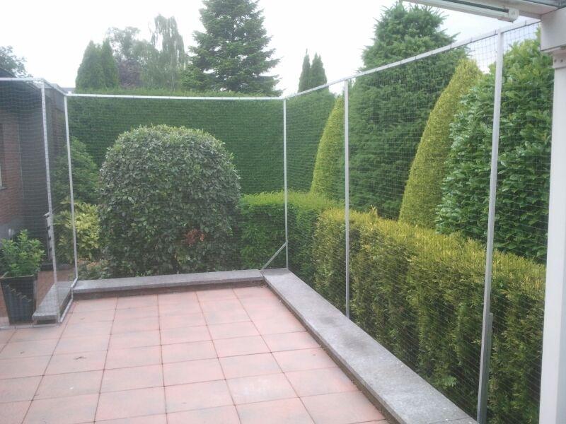 Katzennetz System für Terrasse