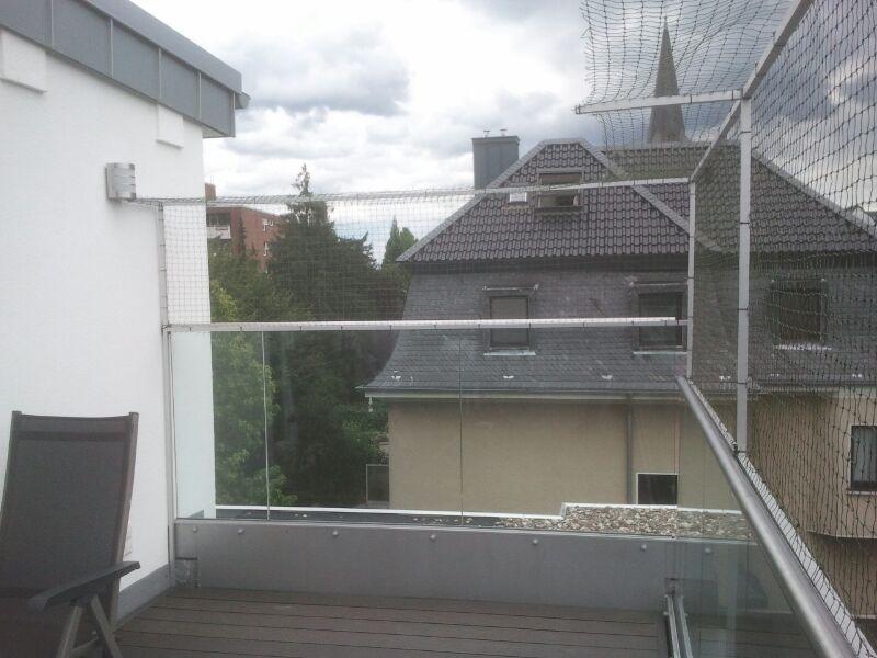Dachterrasse mit Katzenschutznetz
