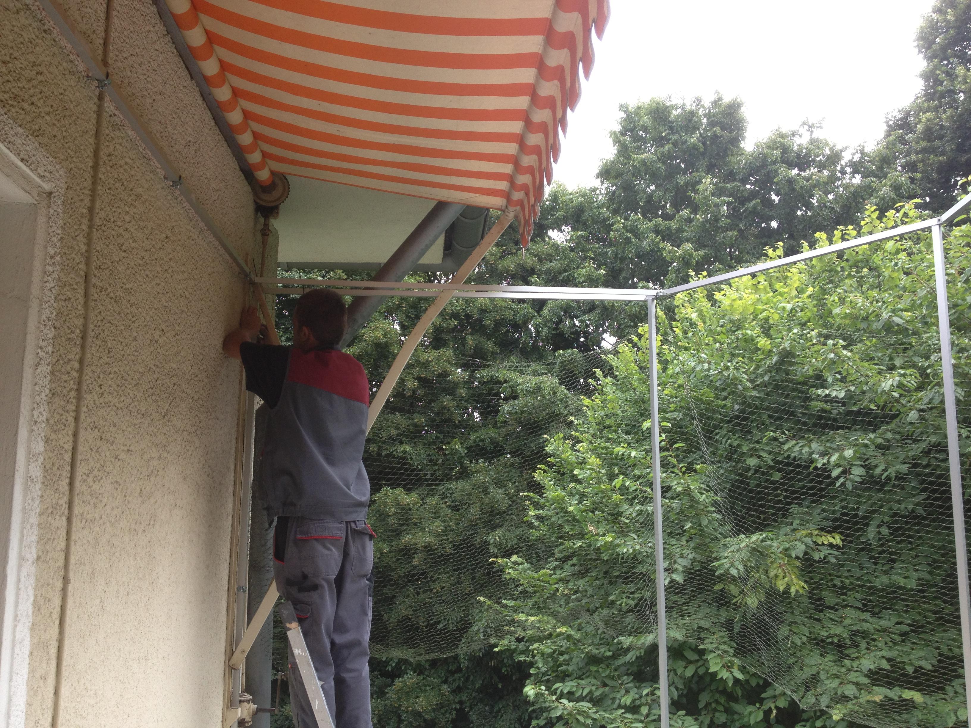 balkon in leverkusen vom profi mit katzennetz gesichert katzennetze nrw der katzennetz profi. Black Bedroom Furniture Sets. Home Design Ideas