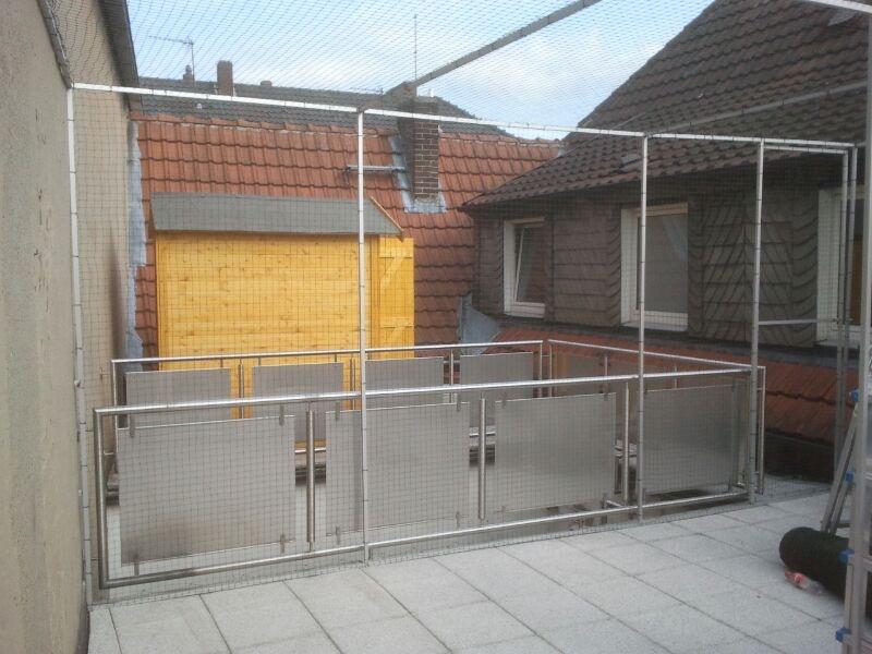 Das Katzennetz Gehege für Terrasse