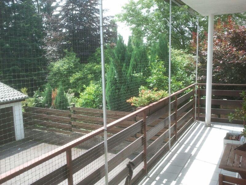 Katzenschutznetz am Balkon