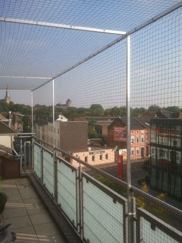 Katzennetz Balkon oben geschlossen
