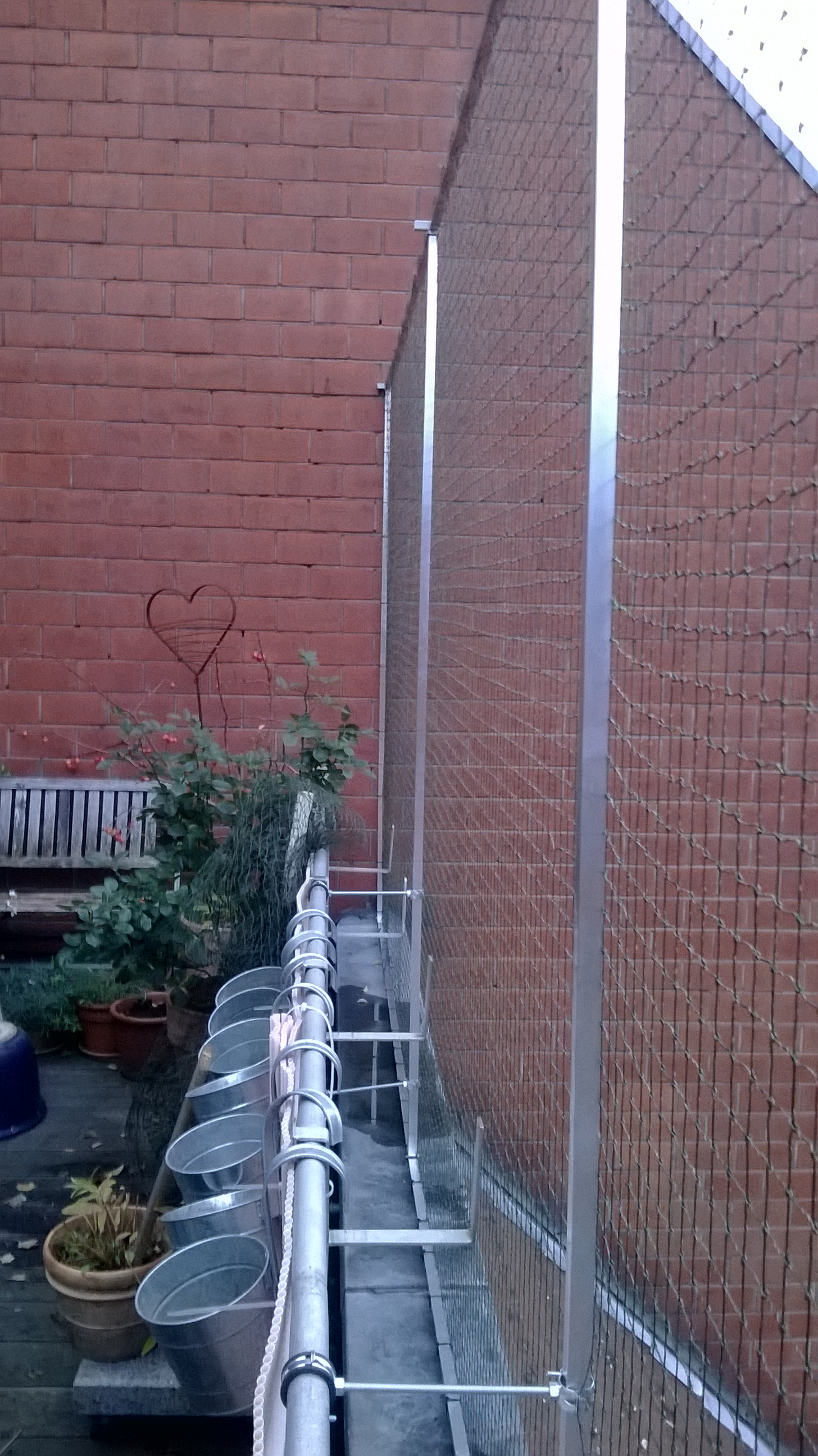 Dachloggia Balkon In Koln Ohne Bohren Mit Katzennetz Gesichert
