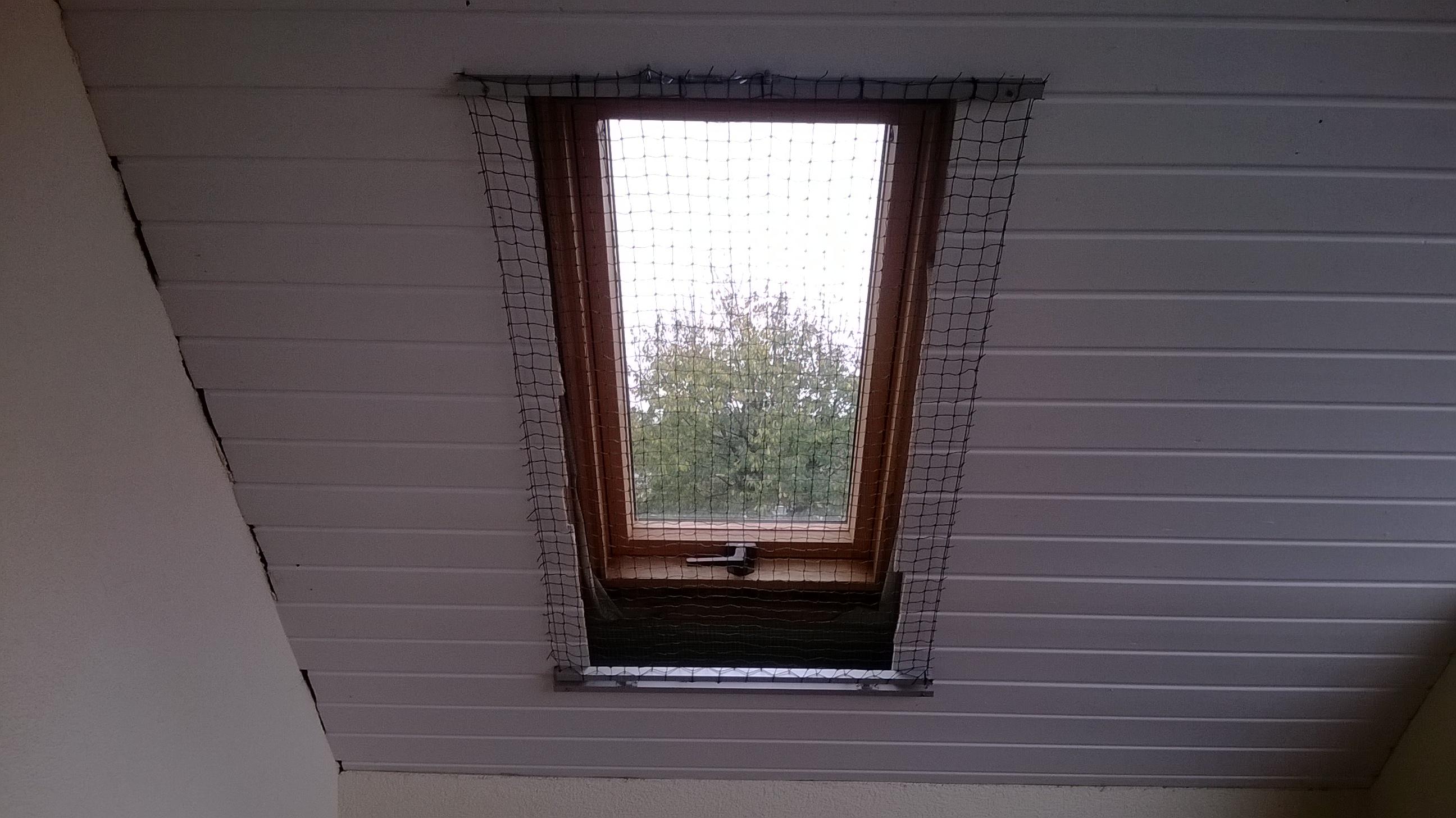 Katzennetz für Dachfenster