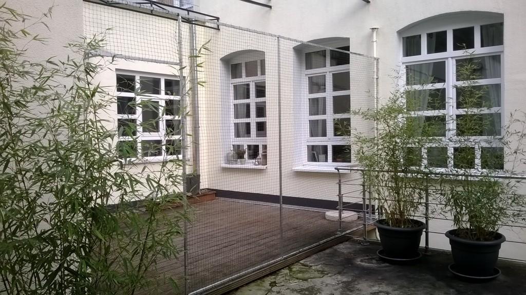 Terrasse mit Katzennetz System