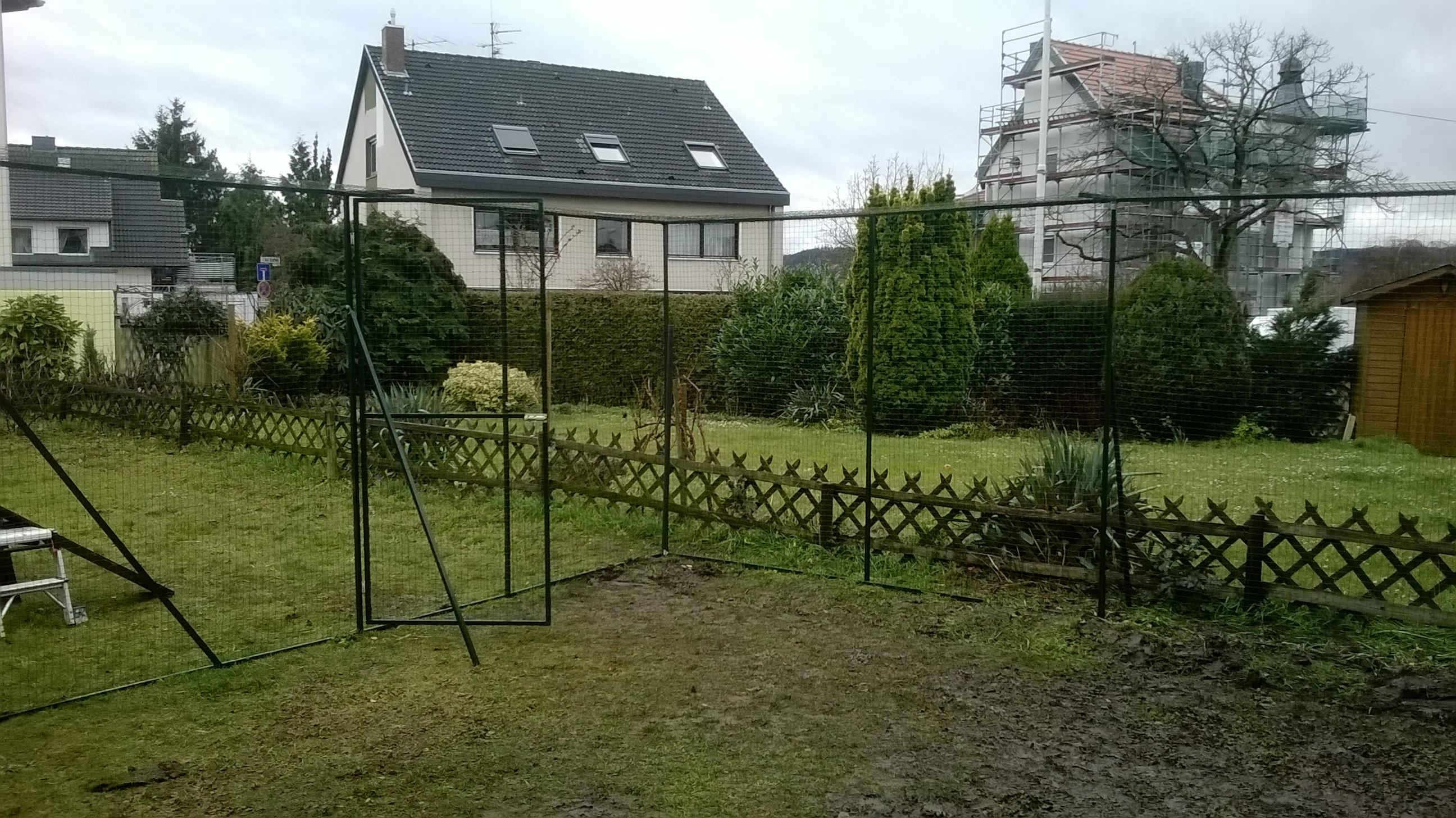 Garten Mit Katzennetz System Sicher Vernetzt