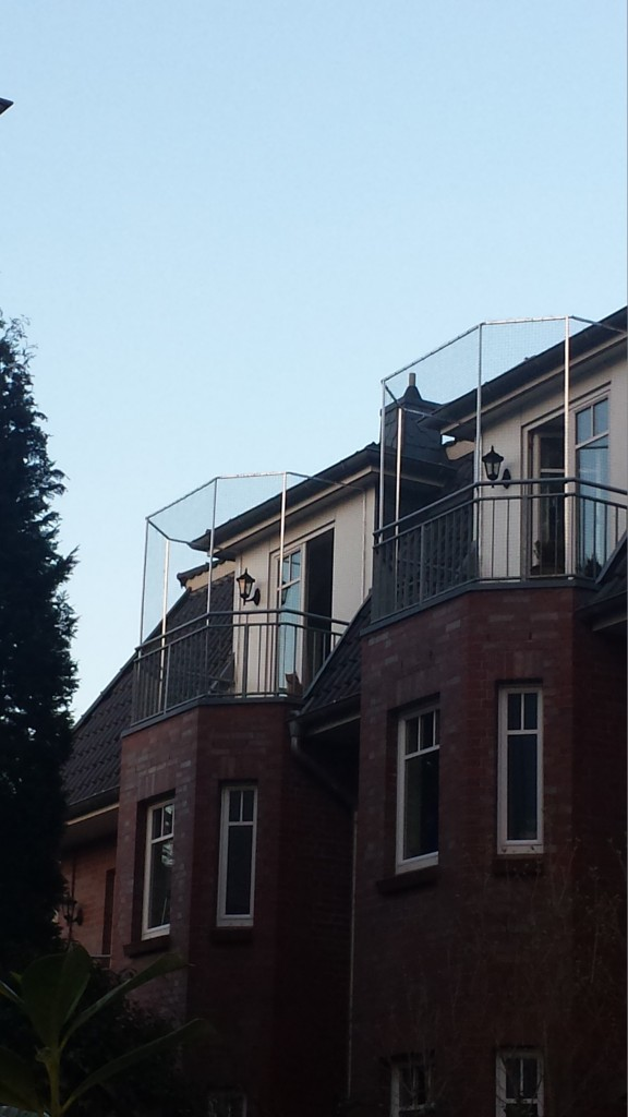 Balkon in Hamburg vom Profi vernetzt