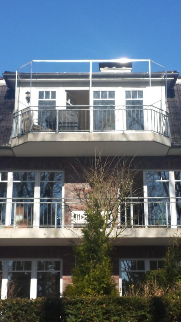 Hamburg Balkon ohne bohren mit Katzennetz