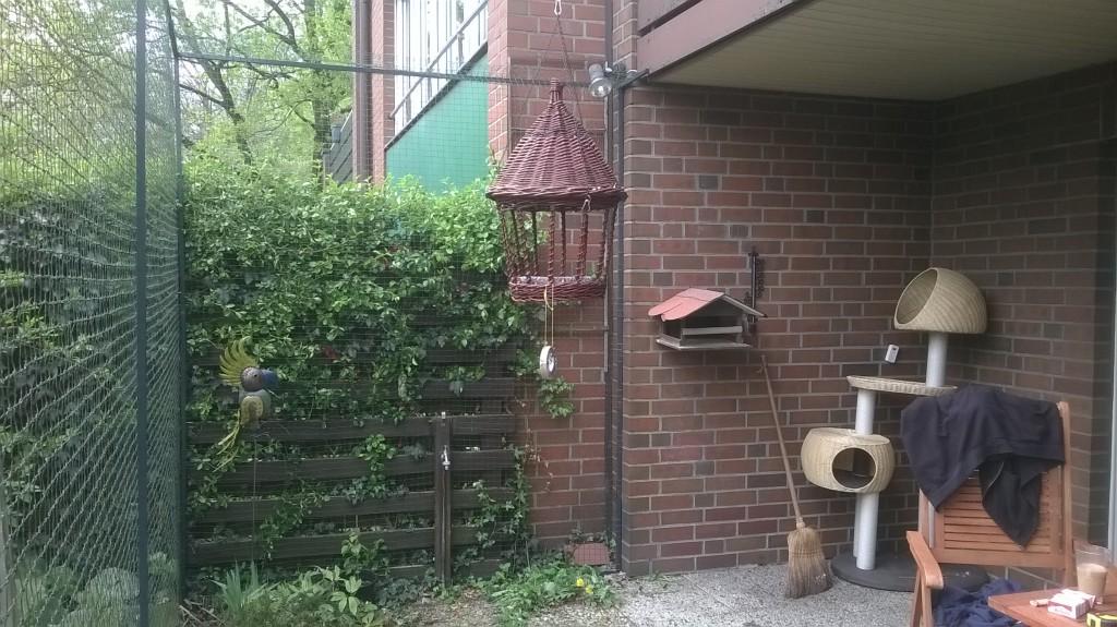 Katzengehege als Terrassenvernetzung