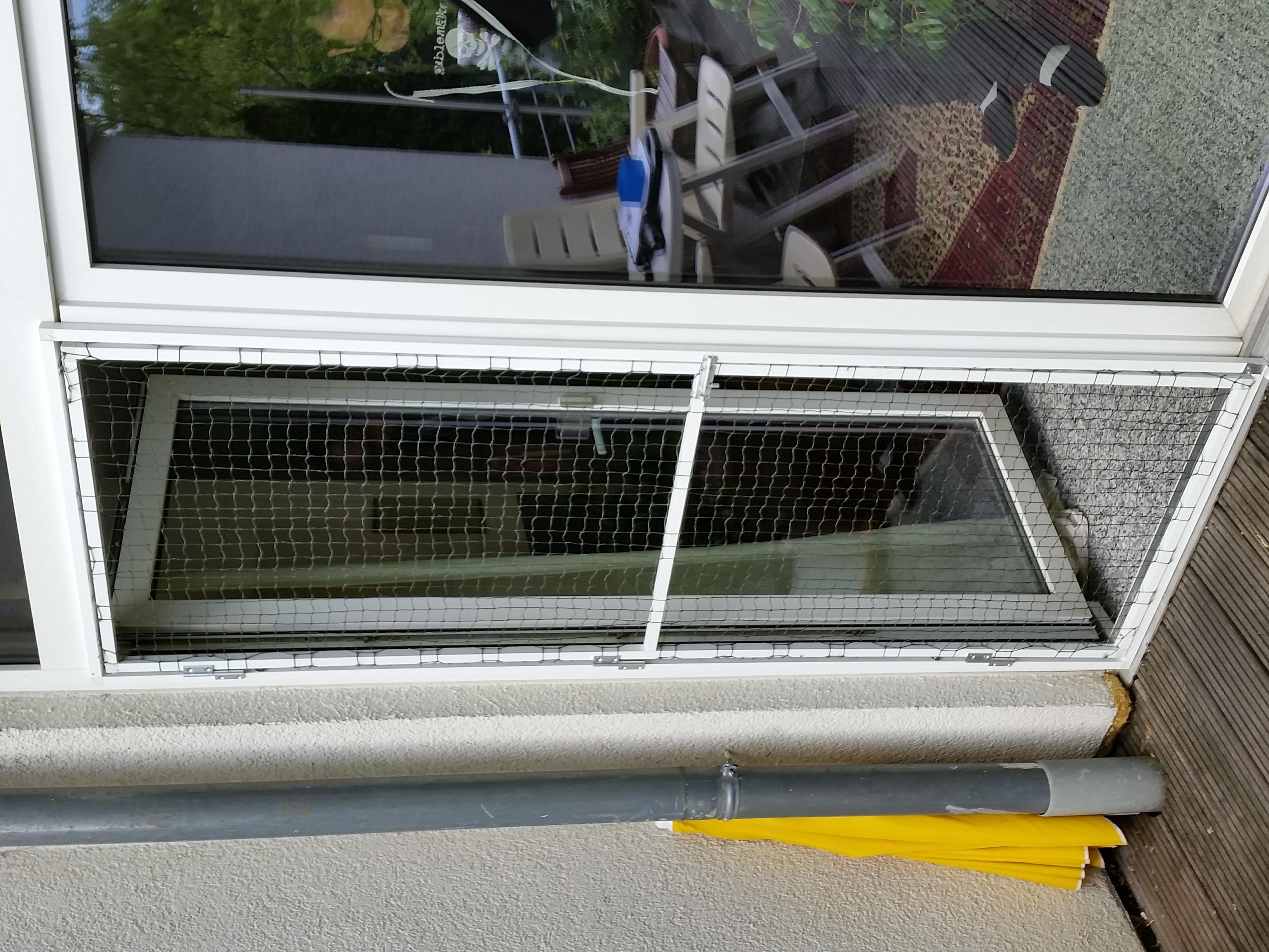 balkon terrassent r mit katzennetz system ohne bohren. Black Bedroom Furniture Sets. Home Design Ideas