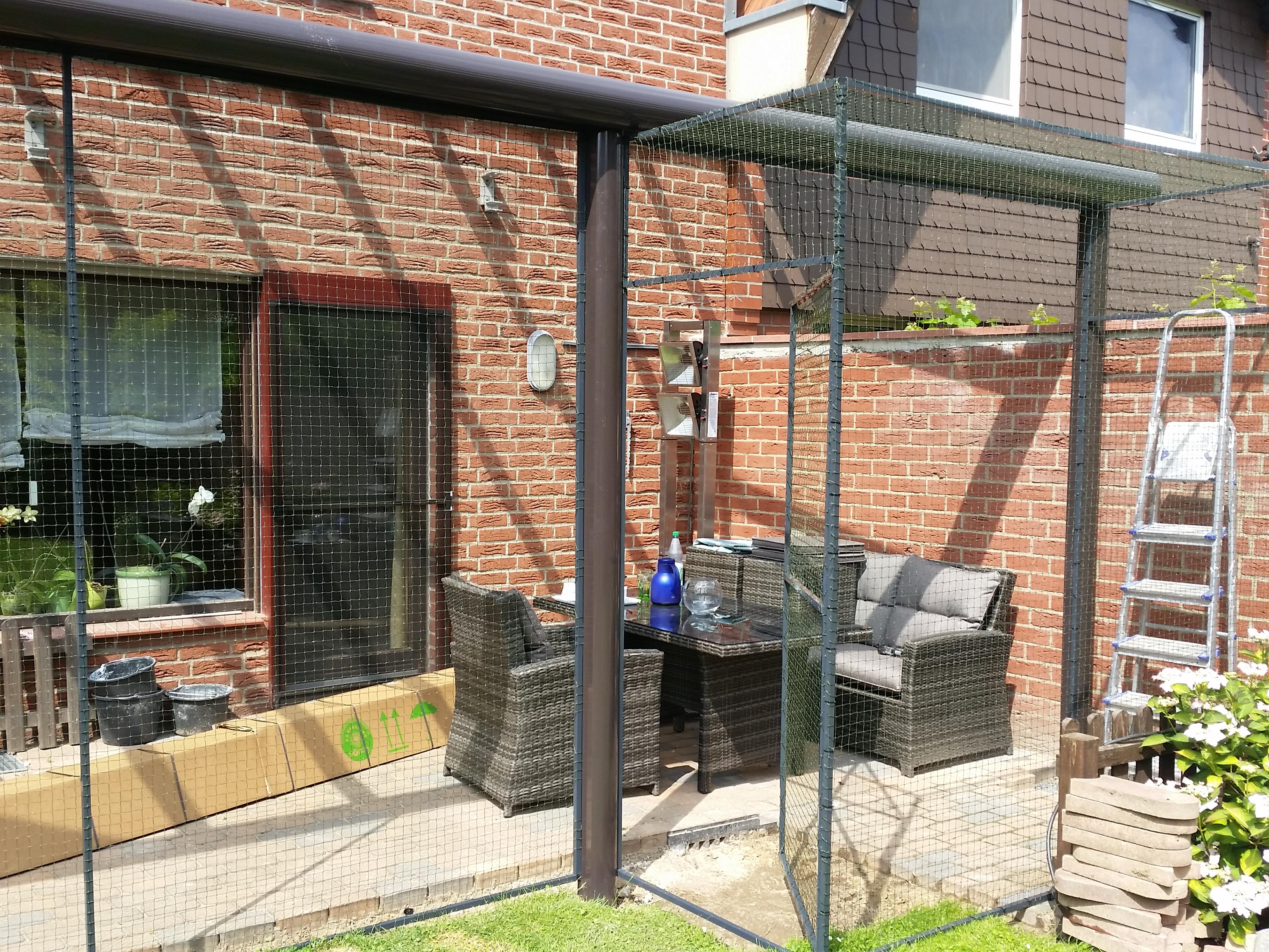 Katzengehege Auf Terrasse In Hannover Katzennetze Nrw Der