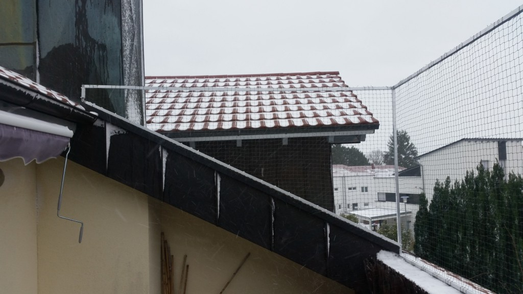 Dachbalkon-Katzennetz