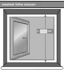 maximal Höhe Fensterschutz