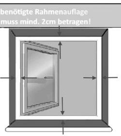 benötigte Auflage Fenstergitter