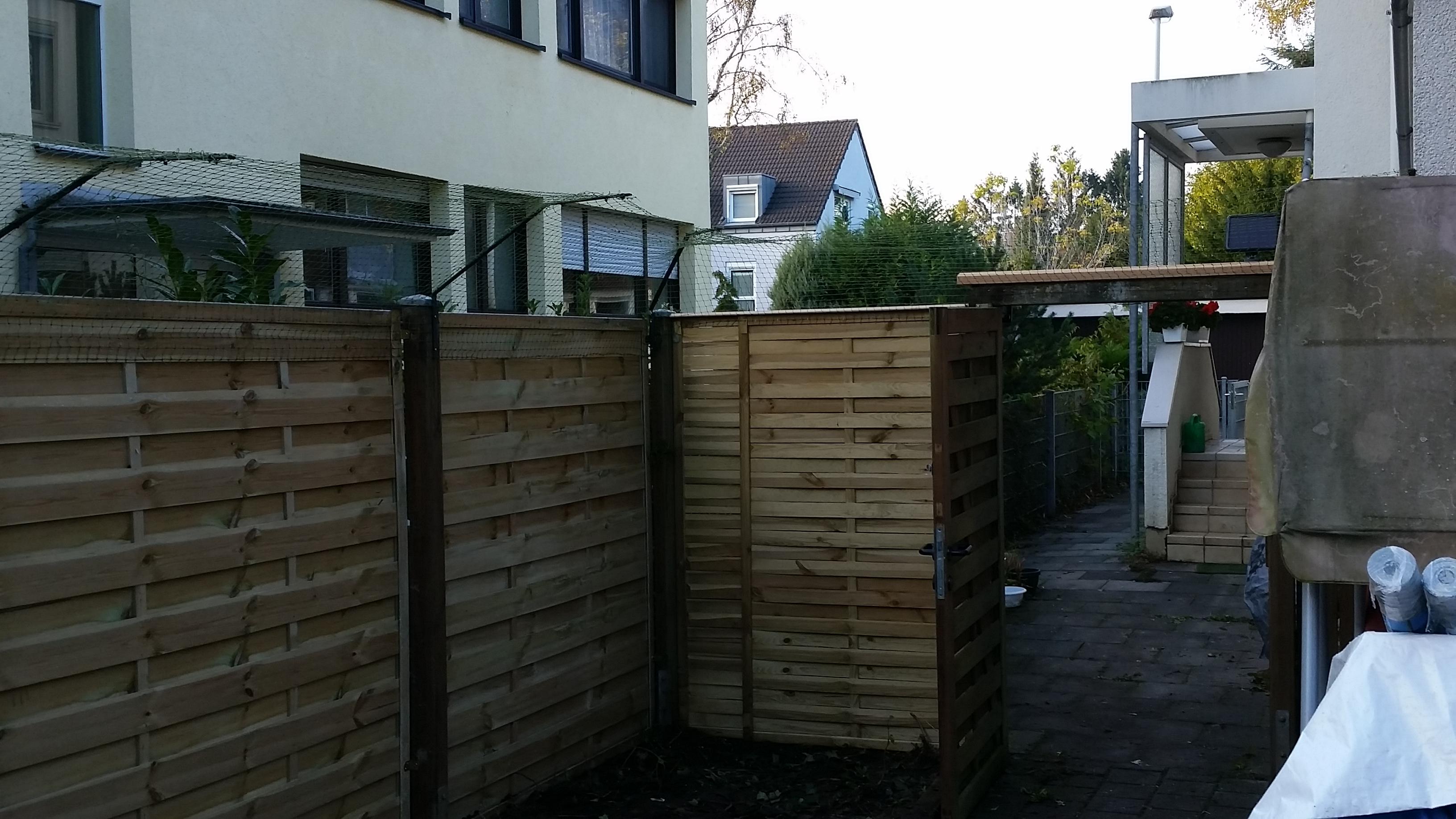 katzensicherung eines Gartens