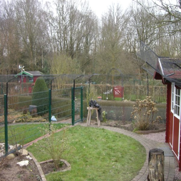 Garten Katzennetz mit 2fach Ueberkletterschutz