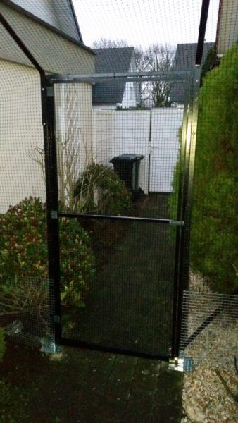 Garten Katzennetz mit doppelten Ueberkletterschutz