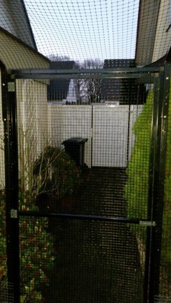 Garten Katzennetz mit Tuer