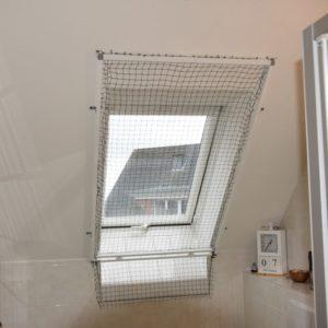 Dachfenster und Katzennetz