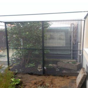 Katzenvoliere mit Doppelstegplatten als Überdachung