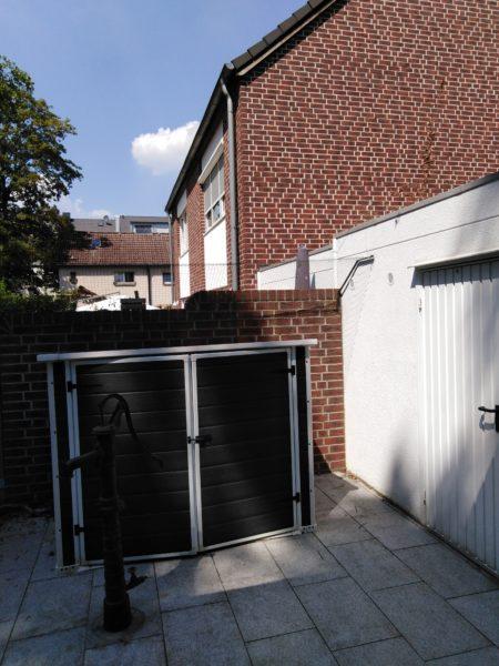 Gartenmauer mit Überkletterschutz