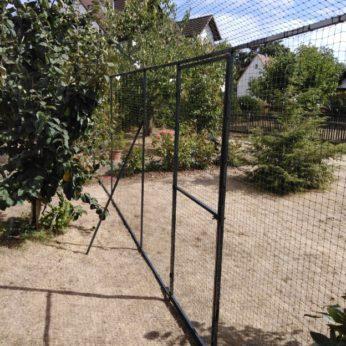 Katzennetz System Mit 45° Abwinklung Für Gartensicherung