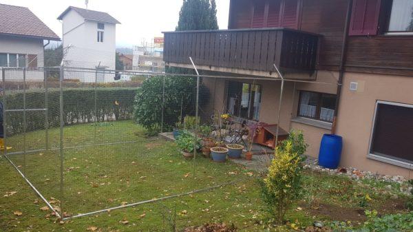 Katzengehege Überkletterschutz in der Schweiz
