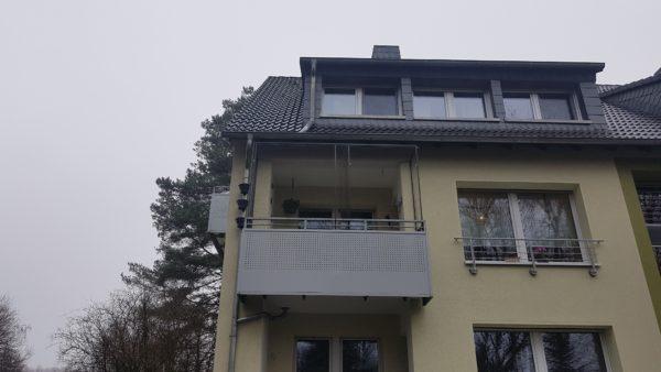 Balkonsicherung zum öffnen