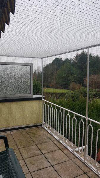 Katzennetz ohne bohren am Balkon