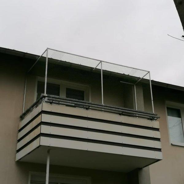 Katzennetz am Balkon ohne bohren
